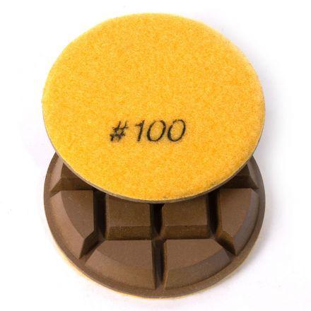 Specialty Diamond 3100FPAD Resin Dry/Wet Floor Polishing Diamond Pad, 3 Inch 9mm Thick, 100 Grit