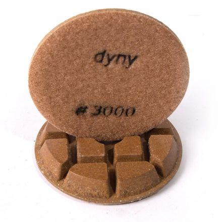 Specialty Diamond 33000FPAD Resin Dry/Wet Floor Polishing Diamond Pad, 3 Inch 9mm Thick, 3000 Grit