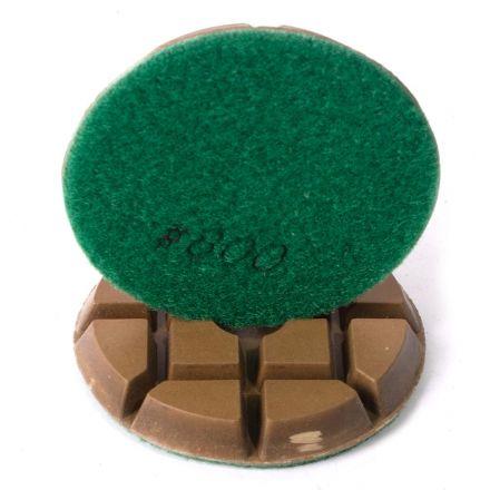 Specialty Diamond 3800FPAD Resin Dry/Wet Floor Polishing Diamond Pad, 3 Inch 9mm Thick, 800 Grit